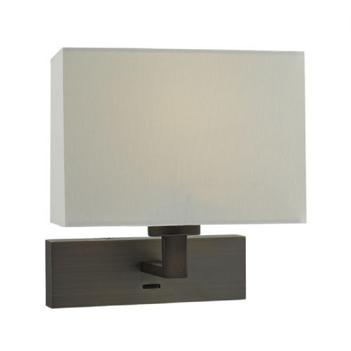 Modena 1 Light Rectangle Wall Bracket Dark Bronze Base Only (Class 2 Double Insulated) BXMOD7163-17